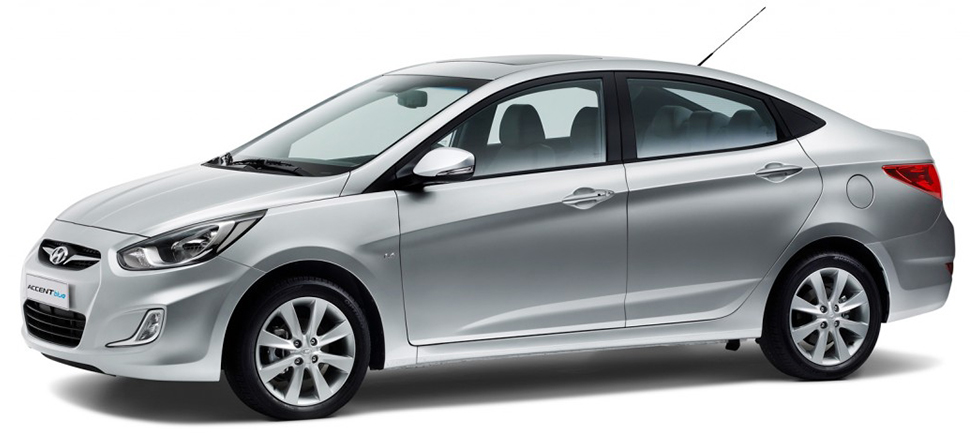 Hyundai Accent Blue for rent Alanya