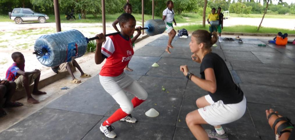 Field Hockey training in Tanzania
