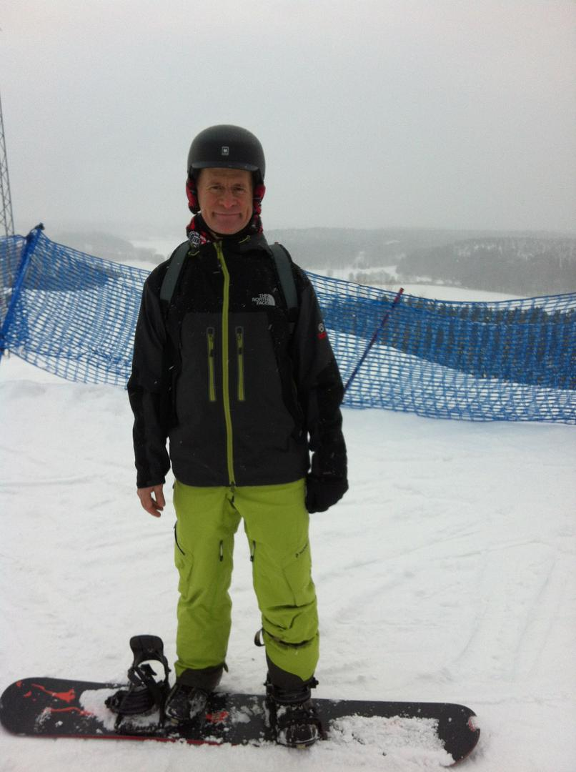Me and my snowboard