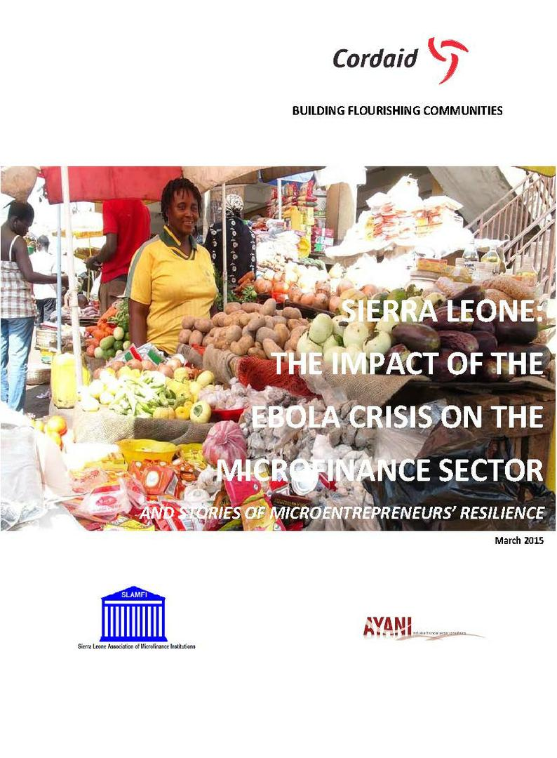 The Impact of the Ebola Crisis on small enterprises