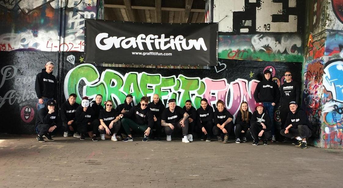 Team Graffitifun with more then 30 artists international