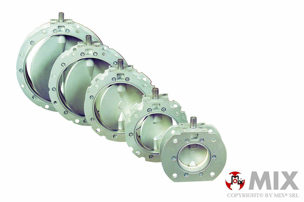 Mix butterfly valves